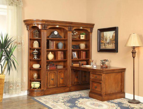 Oxford Bücherschrank mit Schreibtisch