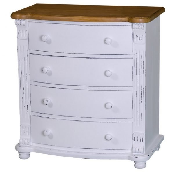 Regency #58 Four Drawer Rounded Chest of Drawers
