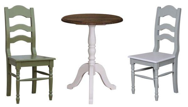Provincial –  Teetisch  mit Stühlen