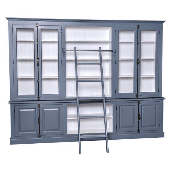 Loft #461 langer Bücherschrank mit Leiter