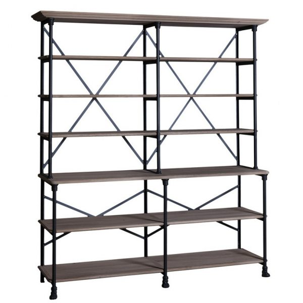 Loft #462/463 Iron Large Bookshelf Combination