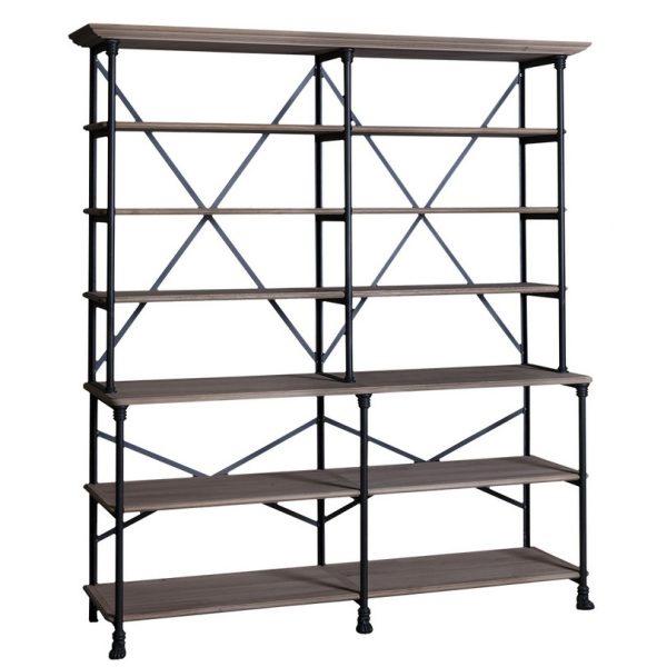 Loft #462/463 Iron Large Bookshelf Combination