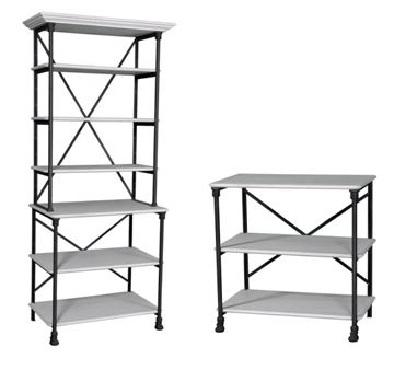 Loft #481/482 Iron Bookshelf Combination
