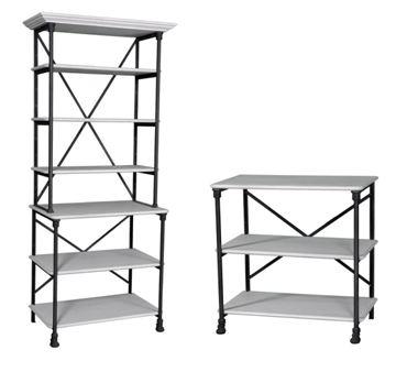 Loft #481/482 Iron Bookshelf Combination