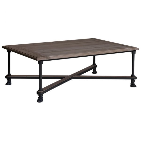 Loft #492 Iron Cris-Cross Coffee Table