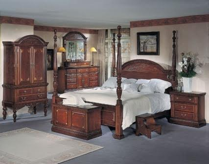 New Orleans King size Sleigh bed Set    (Schlittenbett-Set)